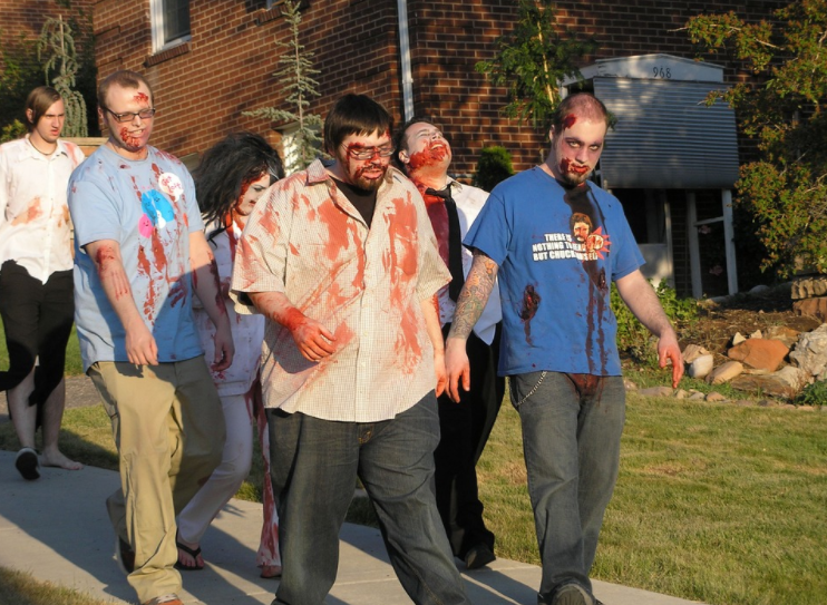 grupo de zombies